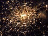Image de Londres prise depuis ISS